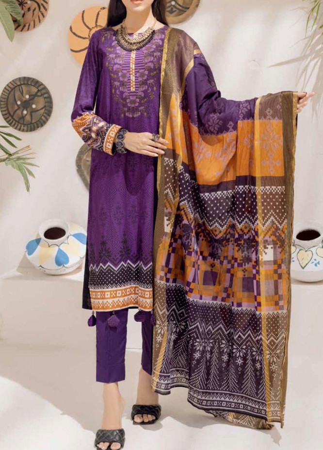 Salitex Printed Cambric Suits Unstitched 3 Piece SL21IG IP-00104B - Winter Collection