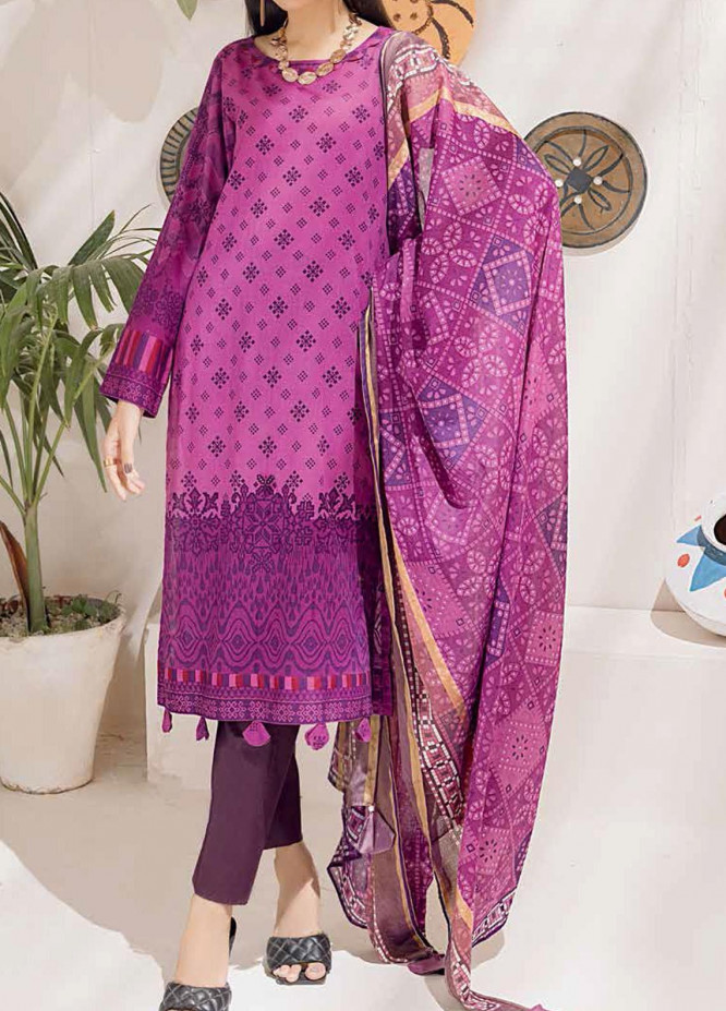 Salitex Printed Cambric Suits Unstitched 3 Piece SL21IG IP-00106A - Winter Collection