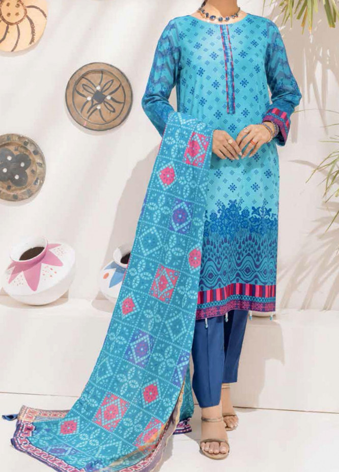Salitex Printed Cambric Suits Unstitched 3 Piece SL21IG IP-00106B - Winter Collection