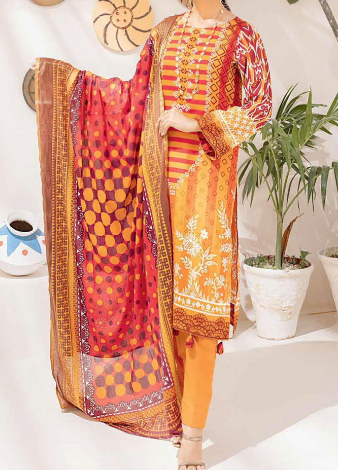 Salitex Printed Cambric Suits Unstitched 3 Piece SL21IG IP-00107A - Winter Collection
