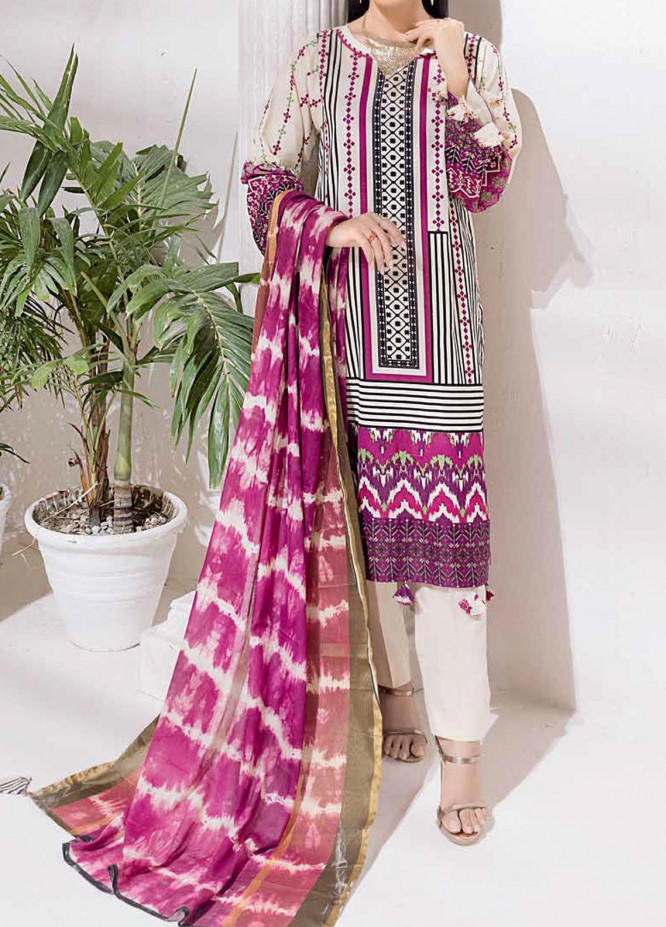 Salitex Printed Cambric Suits Unstitched 3 Piece SL21IG IP-00108A - Winter Collection