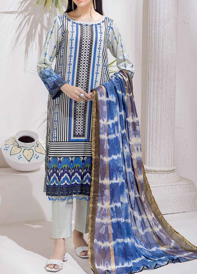 Salitex Printed Cambric Suits Unstitched 3 Piece SL21IG IP-00108B - Winter Collection