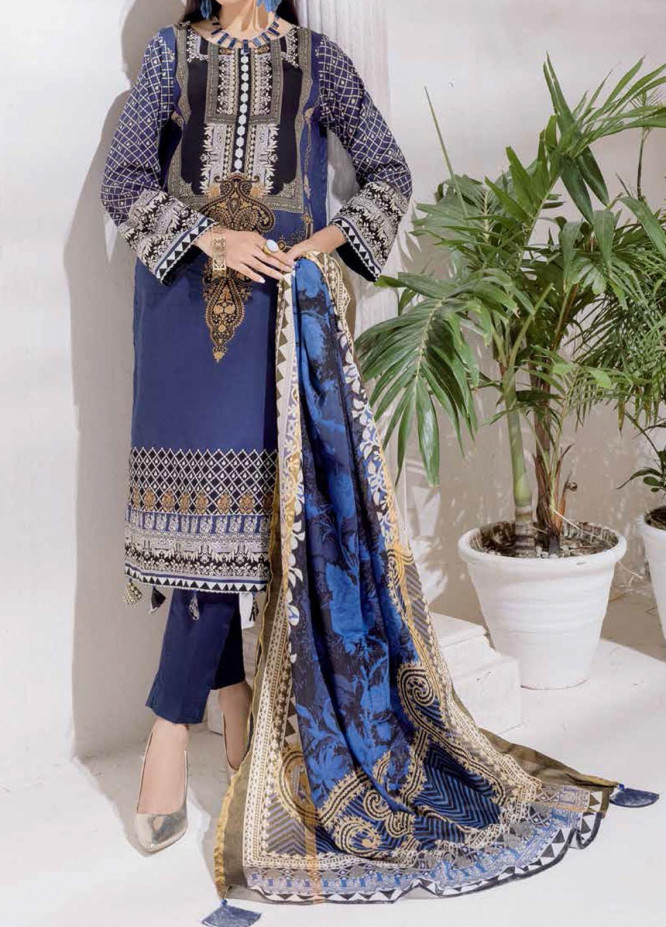 Salitex Printed Cambric Suits Unstitched 3 Piece SL21IG IP-00109B - Winter Collection