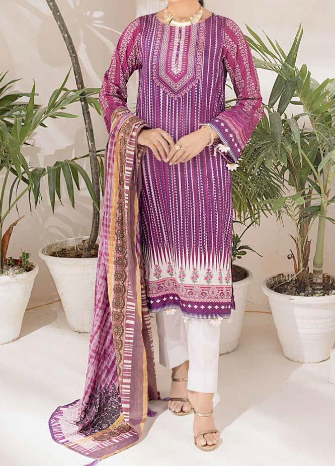 Salitex Printed Cambric Suits Unstitched 3 Piece SL21IG IP-00110A - Winter Collection