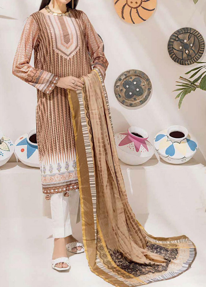 Salitex Printed Cambric Suits Unstitched 3 Piece SL21IG IP-00110B - Winter Collection