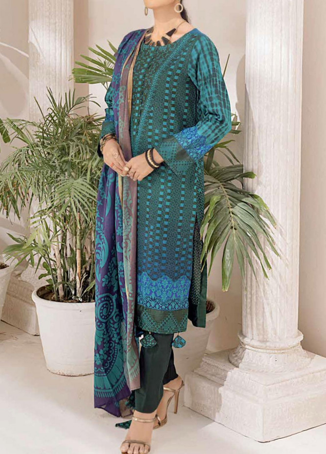 Salitex Printed Cambric Suits Unstitched 3 Piece SL21IG IP-00111B - Winter Collection
