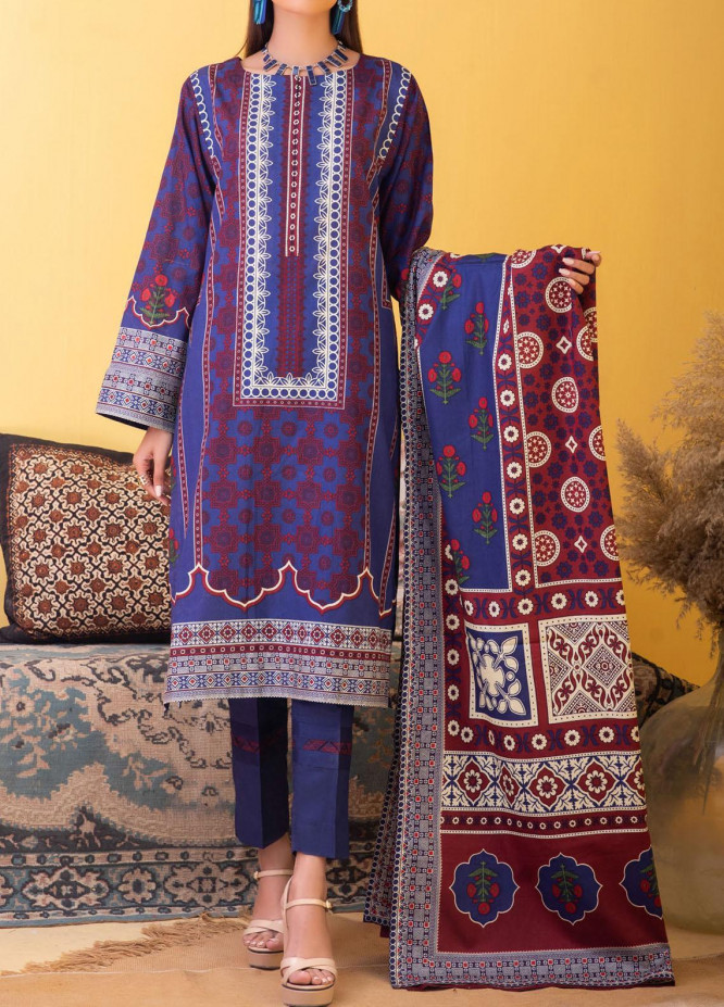 Inaya by Salitex Printed Lawn Unstitched 3 Piece Suit ST21IL 00037B - Summer Collection