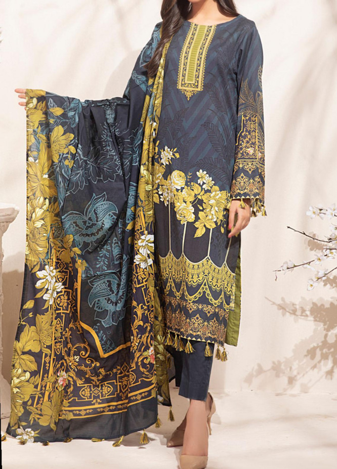 Malabis By Salitex Printed Lawn Suits Unstitched 3 Piece ST21M 00060 - Summer Collection
