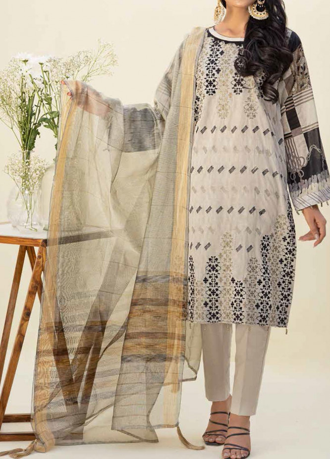 Salitex Embroidered Lawn Suits Unstitched 3 Piece SL21SF WK-00775 - Festive Collection