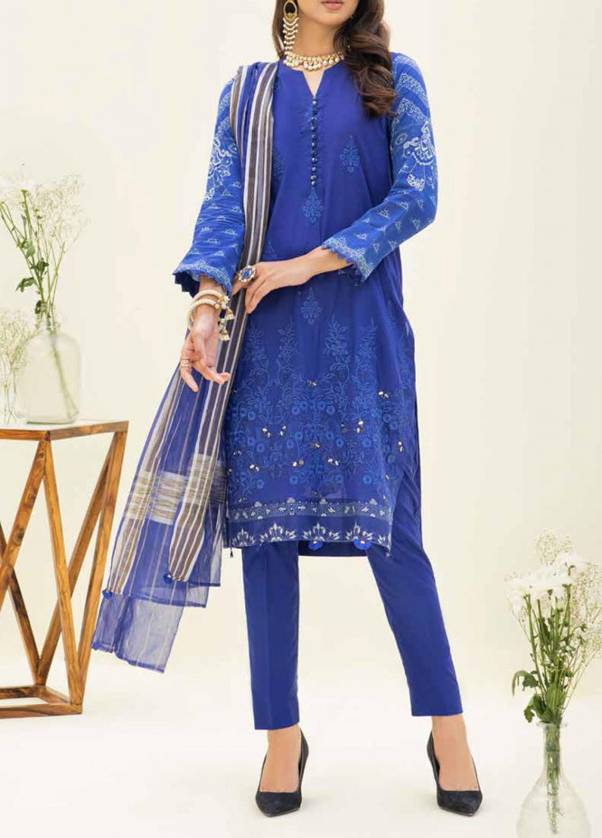 Salitex Embroidered Lawn Suits Unstitched 3 Piece SL21SF WK-00777 - Festive Collection