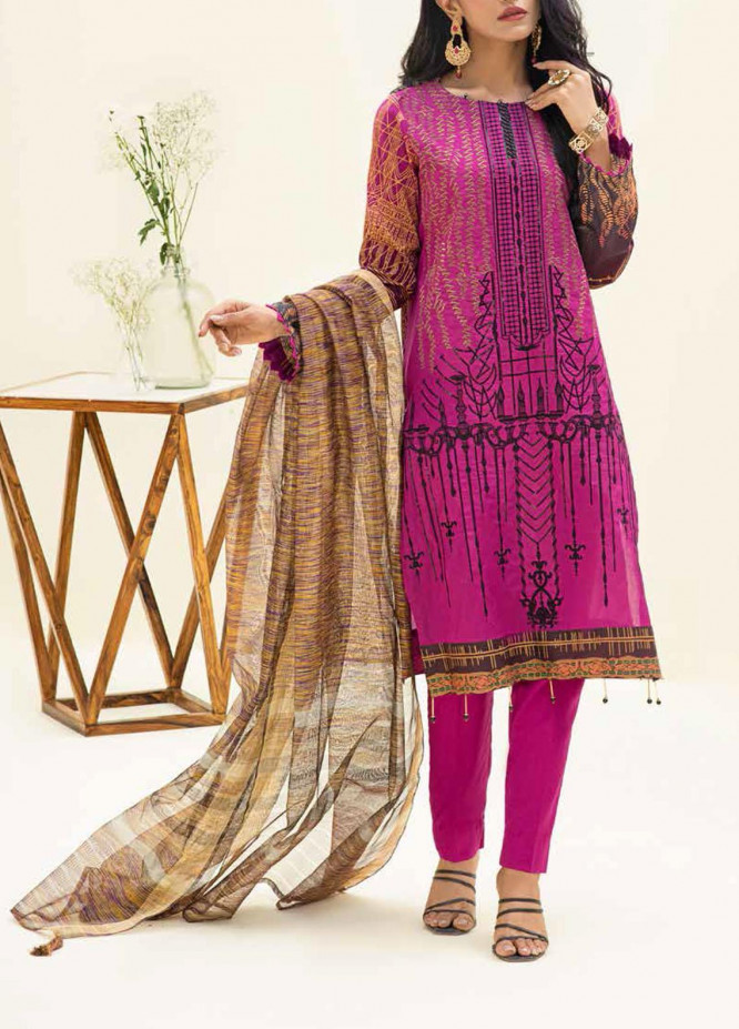 Salitex Embroidered Lawn Suits Unstitched 3 Piece SL21SF WK-00779 - Festive Collection