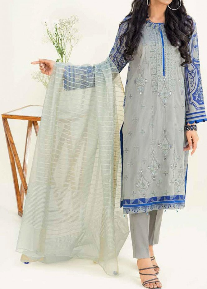 Salitex Embroidered Lawn Suits Unstitched 3 Piece SL21SF WK-00781 - Festive Collection