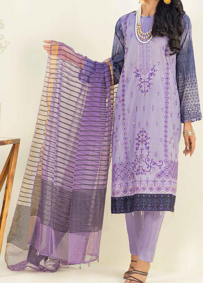 Salitex Embroidered Lawn Suits Unstitched 3 Piece SL21SF WK-00783 - Festive Collection