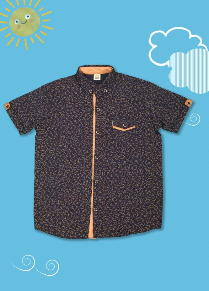 Sanaulla Exclusive Range Cotton Casual Shirts for Boys -  1010 Blue