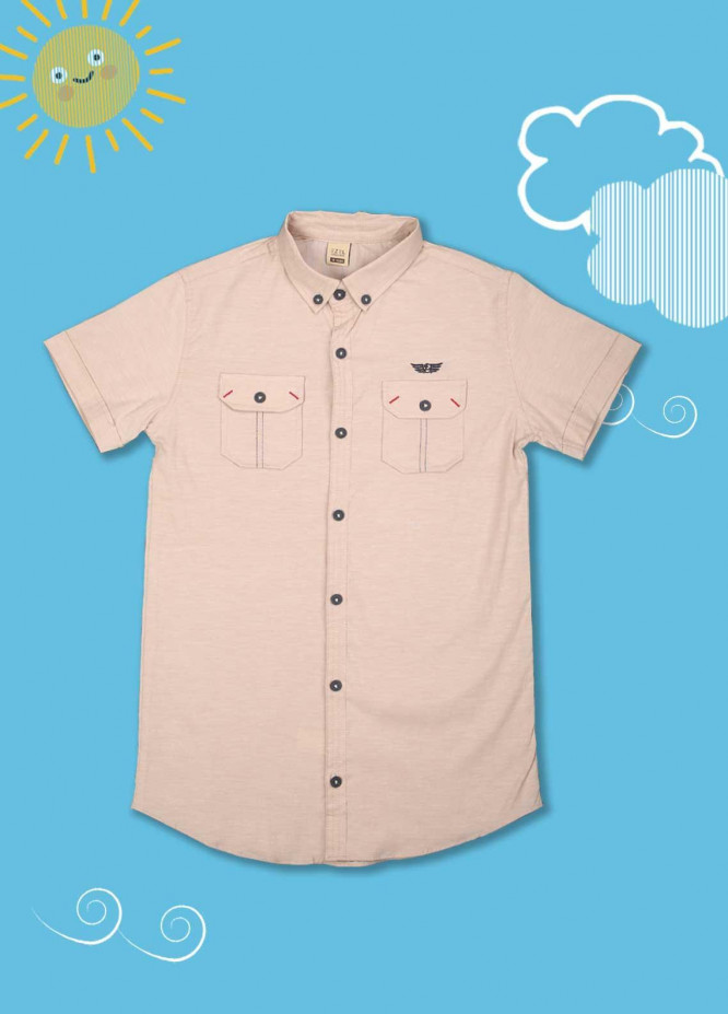 Sanaulla Exclusive Range Cotton Casual Shirts for Boys -  1013 Fawn