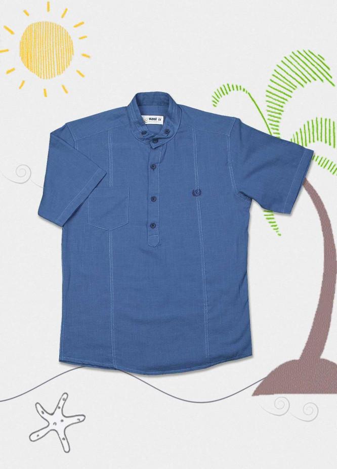 Sanaulla Exclusive Range Cotton Fancy Boys Shirts -  2008 Blue