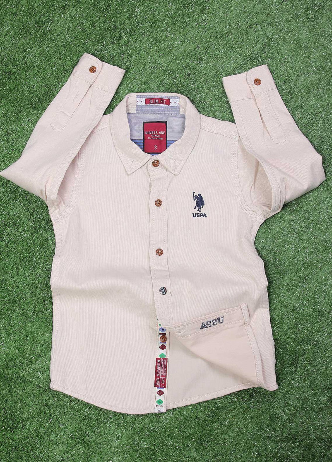 Sanaulla Exclusive Range  Fancy Shirt for Boys -  SU20BS SHC171S Fawn