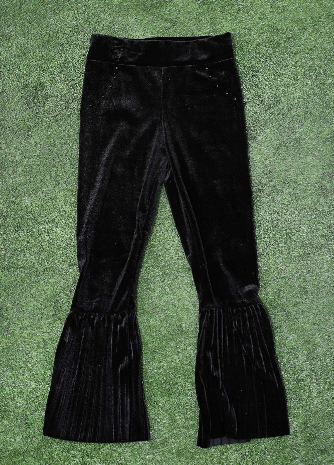 Sanaulla Exclusive Range Fancy Velvet Stitched Tights 2013 Black