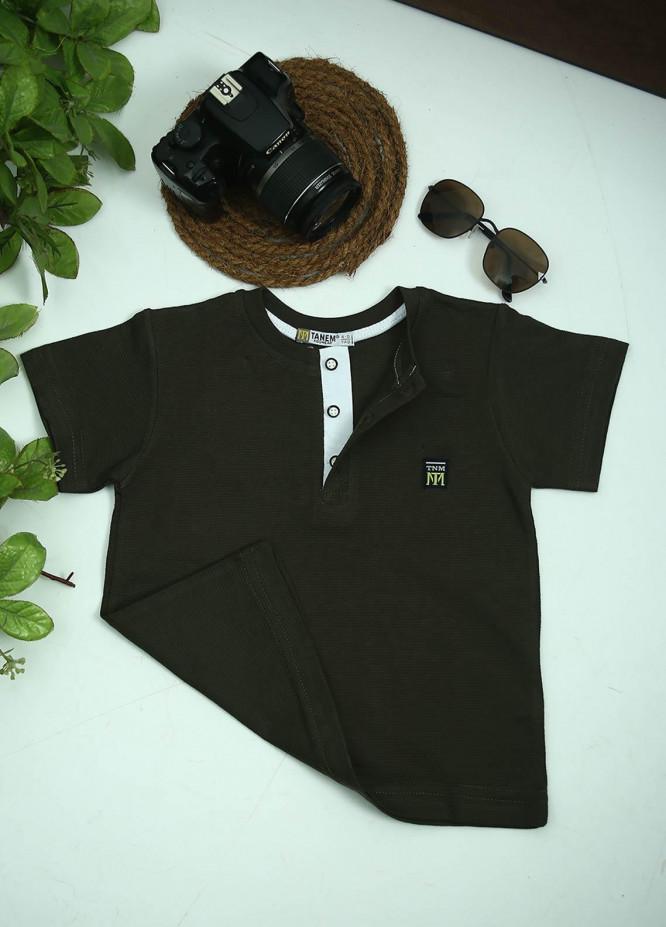 Sanaulla Exclusive Range Cotton Fancy T-Shirts for Boys -  1000895 Green