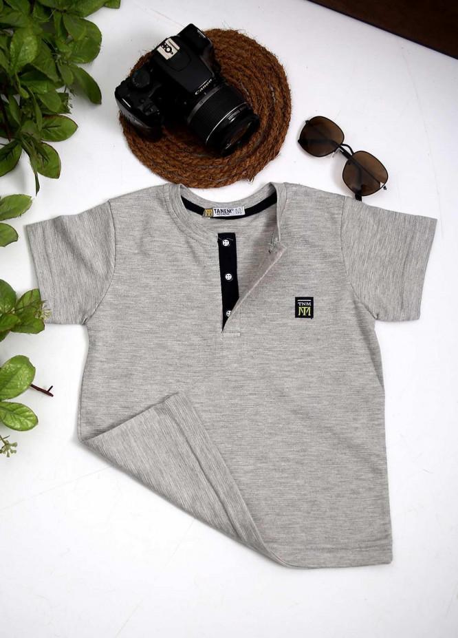 Sanaulla Exclusive Range Cotton Fancy Boys T-Shirts -  1000895 L Grey
