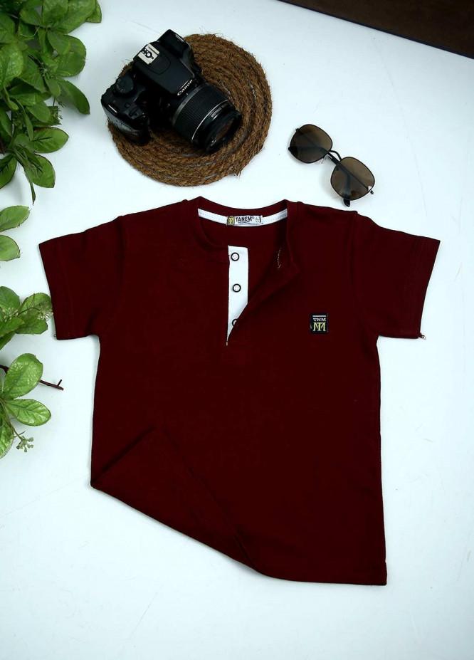 Sanaulla Exclusive Range Cotton Fancy Boys T-Shirts -  1000895 Maroon