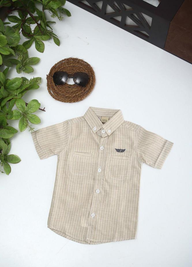 Sanaulla Exclusive Range Cotton Fancy Shirts for Boys -  1011 Fawn