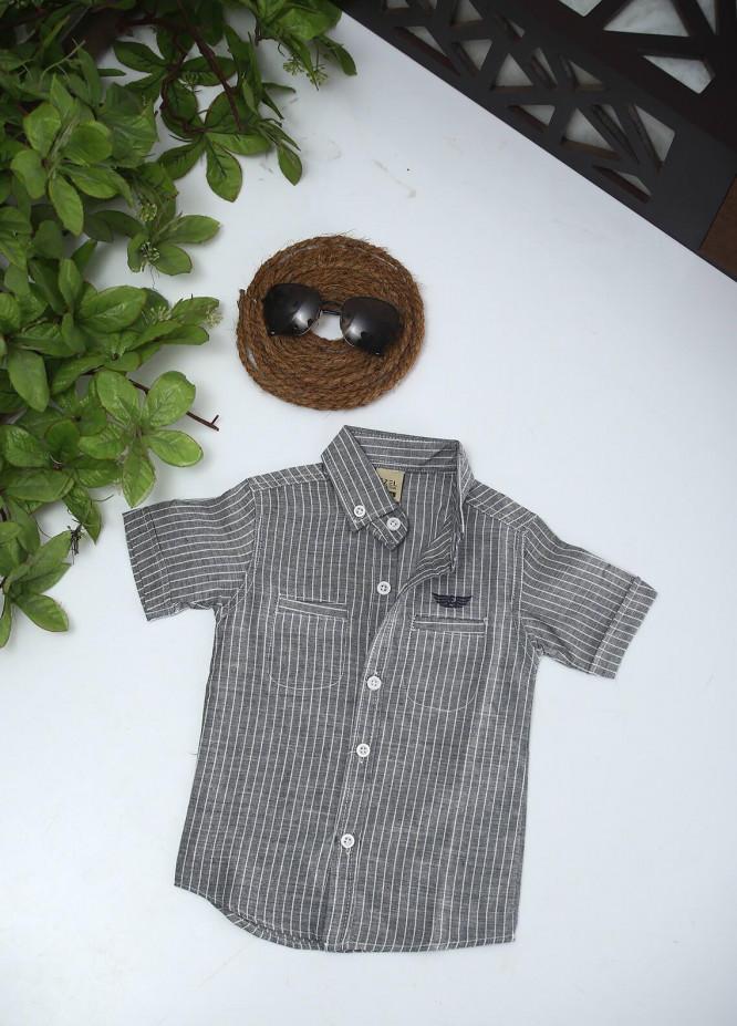 Sanaulla Exclusive Range Cotton Fancy Boys Shirts -  1011 Grey