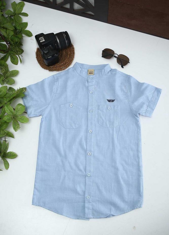 Sanaulla Exclusive Range Cotton Fancy Boys Shirts -  1012 Sky Blue
