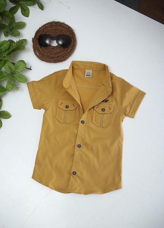 Sanaulla Exclusive Range Cotton Fancy Boys Shirts -  1013 Yellow