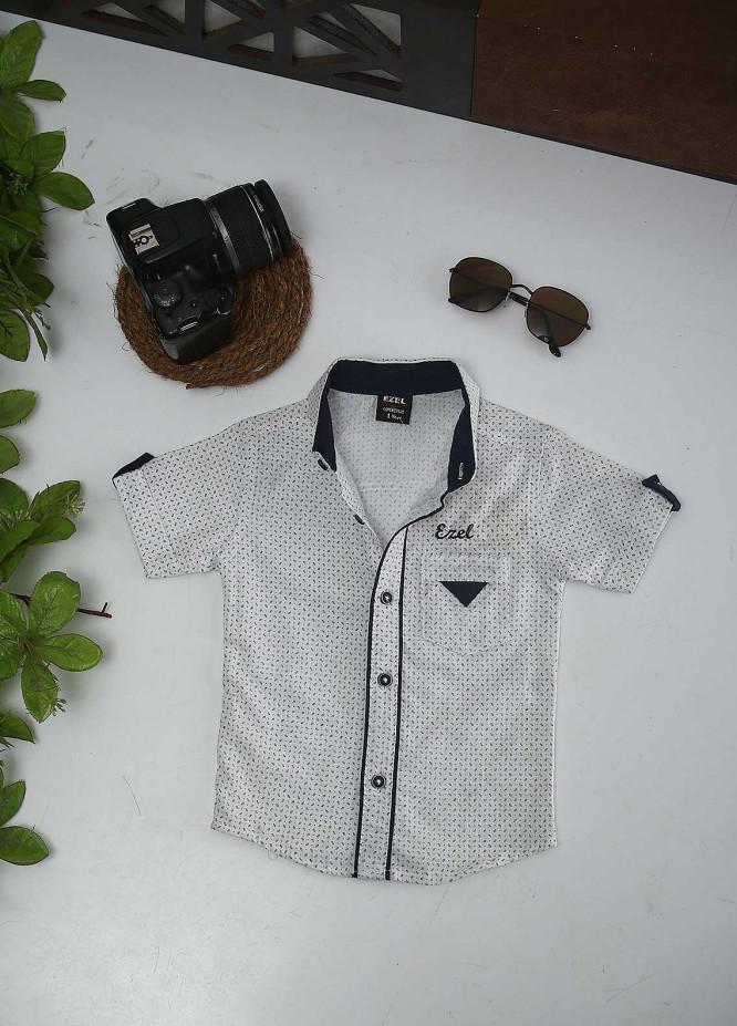 Sanaulla Exclusive Range Cotton Fancy Shirts for Boys -  127-128 White