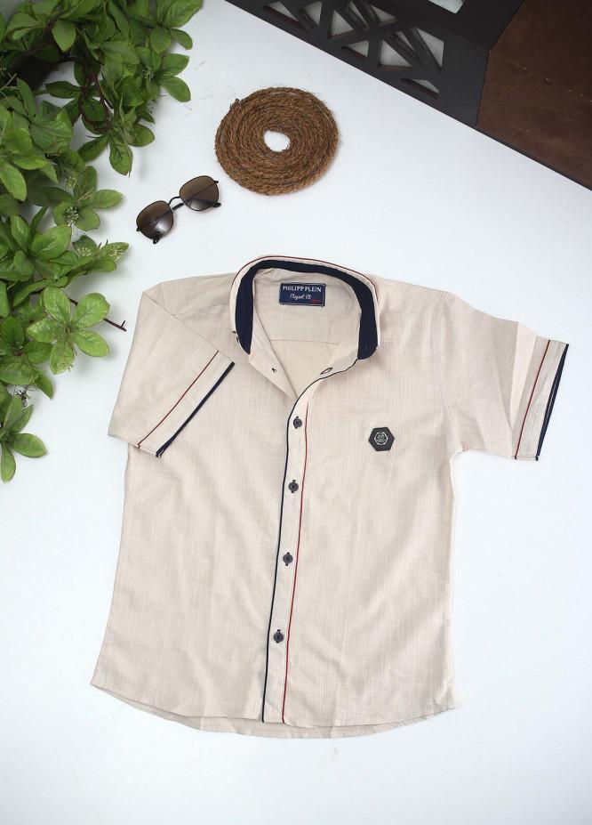Sanaulla Exclusive Range Cotton Fancy Shirts for Boys -  2002 Fawn