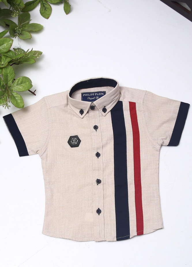 Sanaulla Exclusive Range Cotton Fancy Shirts for Boys -  2003 Fawn