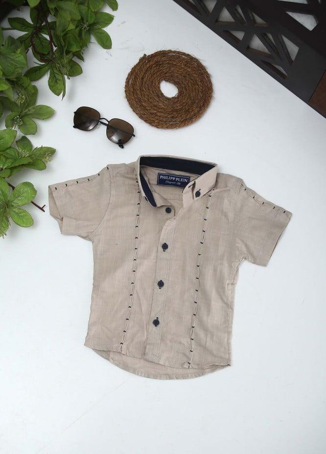 Sanaulla Exclusive Range Cotton Fancy Boys Shirts -  2005 Fawn