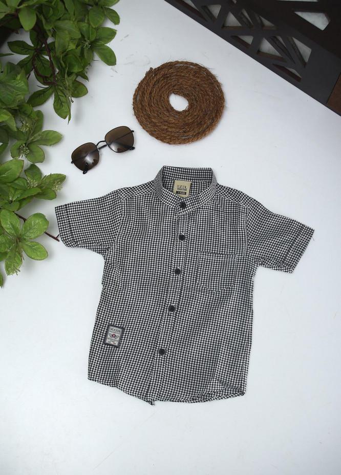 Sanaulla Exclusive Range Cotton Fancy Boys Shirts -  2028 Grey