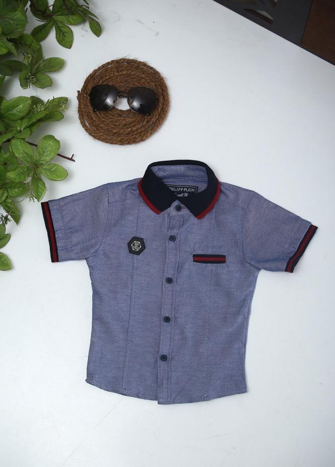 Sanaulla Exclusive Range Cotton Fancy Boys Shirts -  51 Blue
