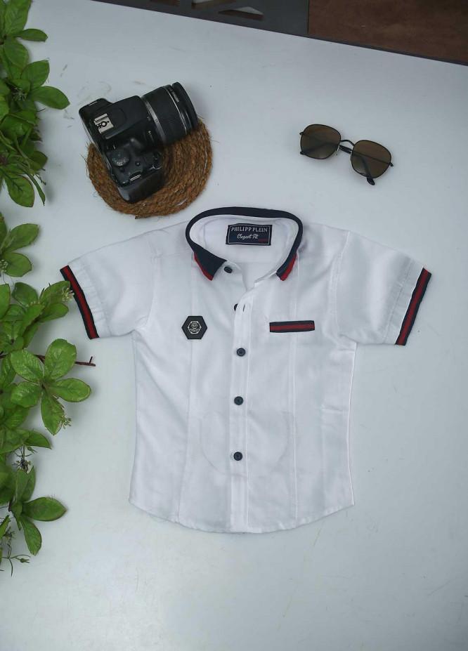Sanaulla Exclusive Range Cotton Fancy Boys Shirts -  51 White