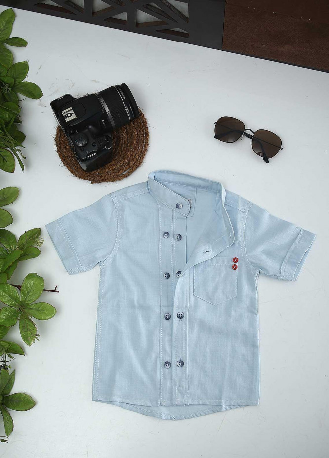 Sanaulla Exclusive Range Cotton Fancy Shirts for Boys -  AR35 Sky Blue