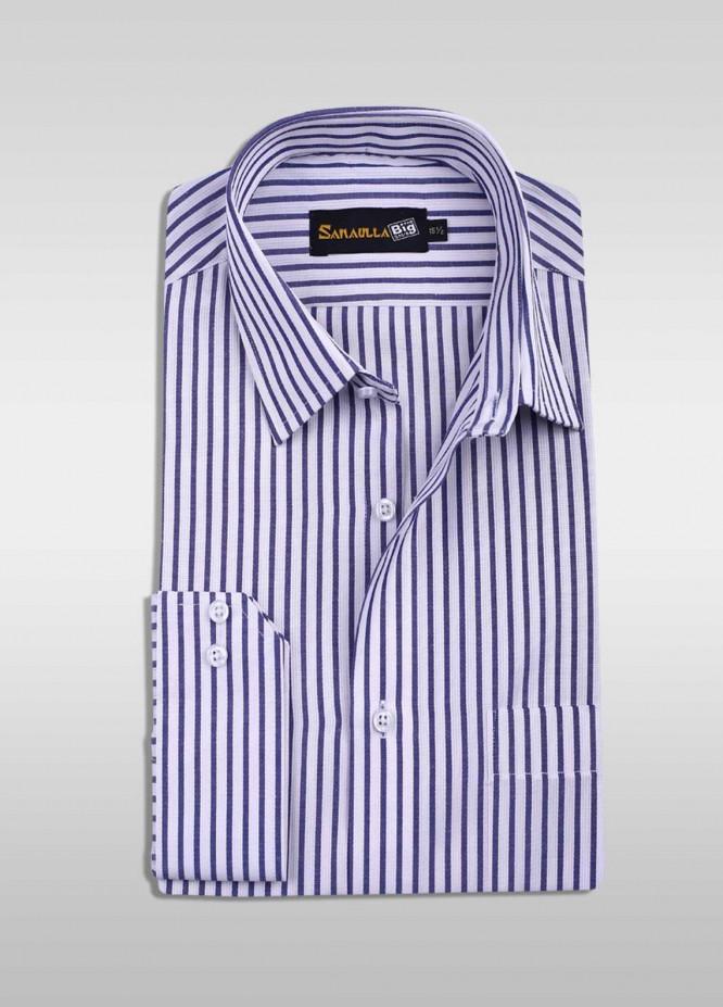 Sanaulla Exclusive Range 80/20 Formal Men Shirts -  SU20GR 04 Blue