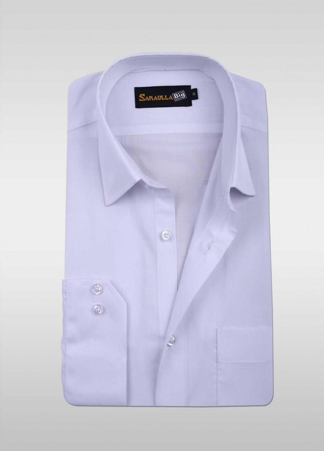 Sanaulla Exclusive Range 80/20 Formal Men Shirts -  SU20GR 08 White