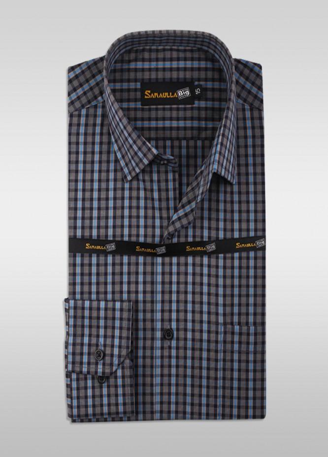 Sanaulla Exclusive Range Cotton Formal Men Shirts -  SU21GR 02-Grey