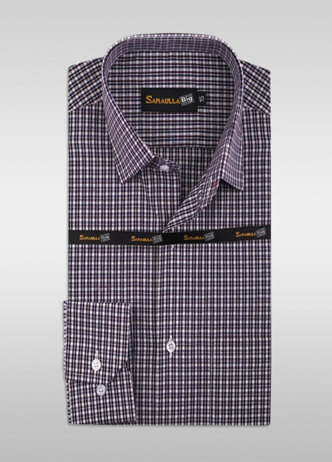 Sanaulla Exclusive Range Cotton Formal Shirts for Men -  SU21GR 03-Brown