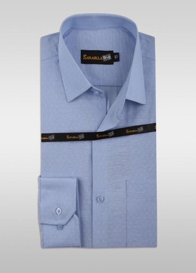 Sanaulla Exclusive Range Cotton Formal Men Shirts -  SU21GR 06-Blue