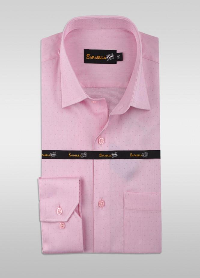 Sanaulla Exclusive Range Cotton Formal Men Shirts -  SU21GR 08-Pink