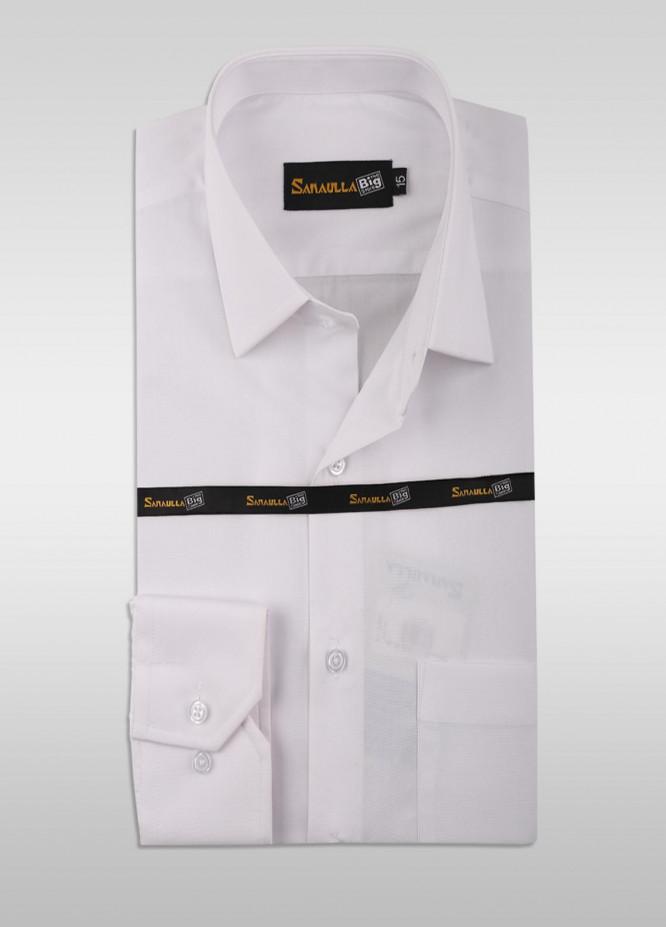 Sanaulla Exclusive Range Cotton Formal Men Shirts - SU21GR 10-White