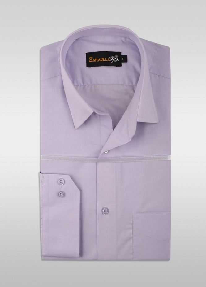 Sanaulla Exclusive Range Cotton Formal Shirts for Men -  SU21GR 11 Purpel