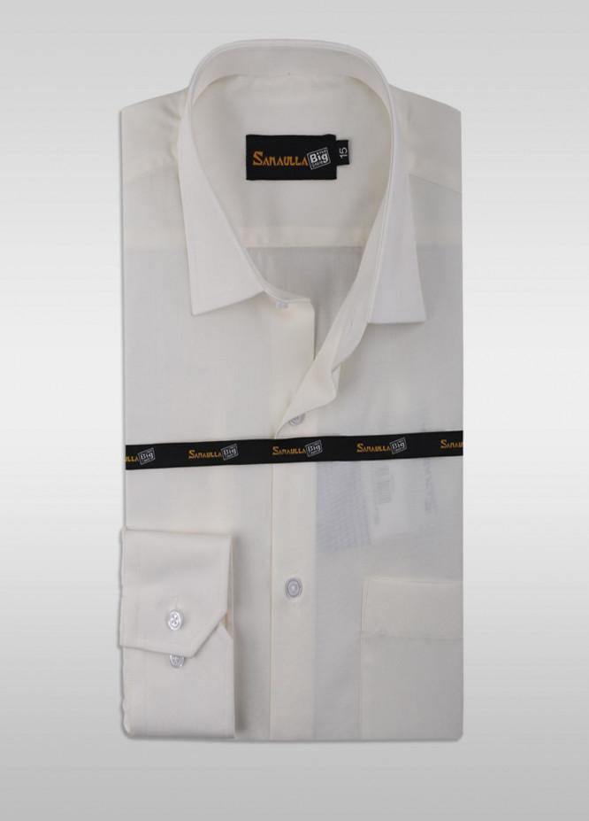 Sanaulla Exclusive Range Cotton Formal Shirts for Men -  SU21GR 12-Cream