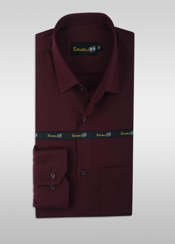 Sanaulla Exclusive Range Cotton Formal Men Shirts -  SU21GR 13-Maroon