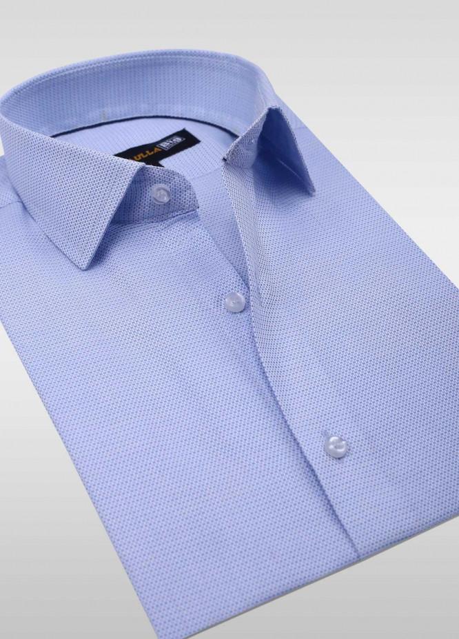 Sanaulla Exclusive Range Cotton Formal Men Shirts -  SU20PS C-746-L-Blue