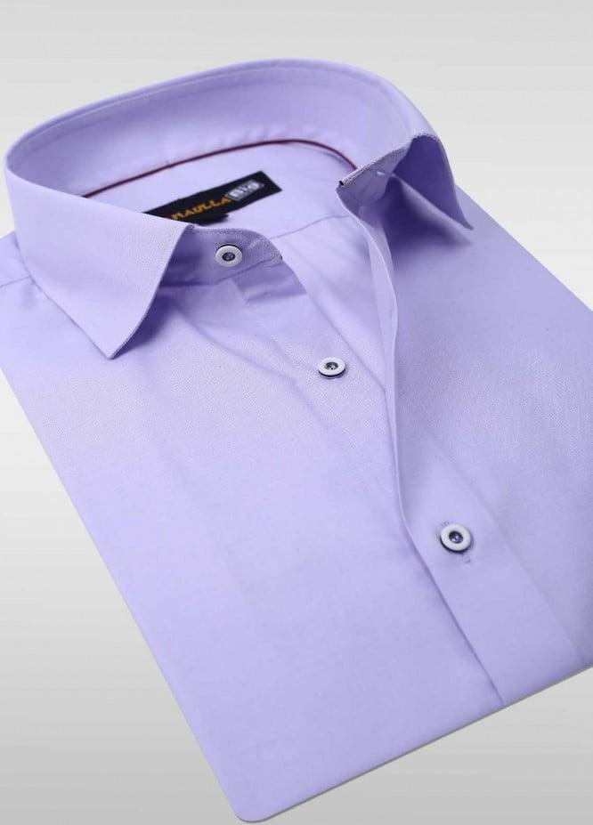 Sanaulla Exclusive Range Cotton Formal Men Shirts -  SU20PS C-746-L-Purple