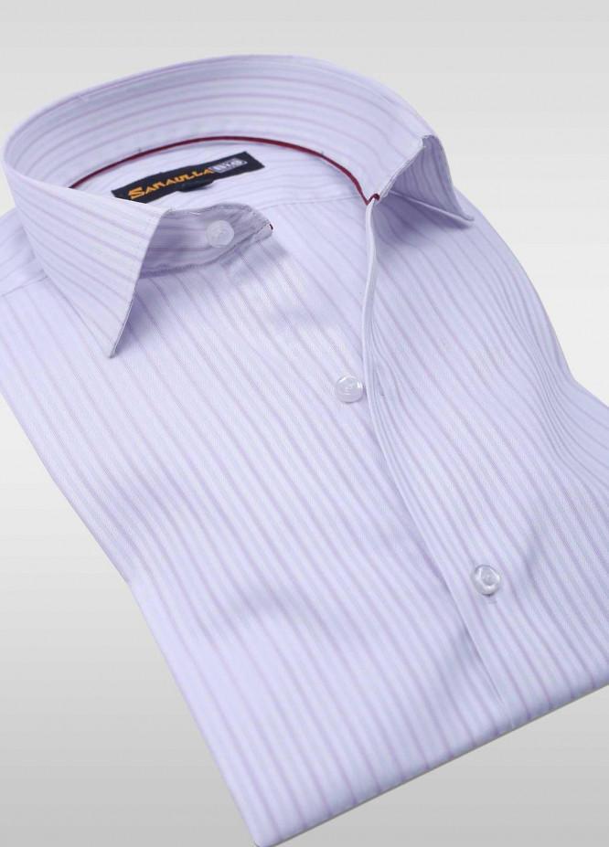 Sanaulla Exclusive Range Cotton Stripe Shirts for Men -  SU20PS C-746-Sky-Blue